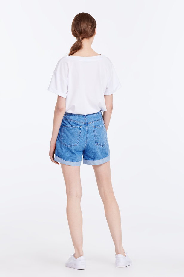 Blue denim shorts photo 6 - MustHave online store