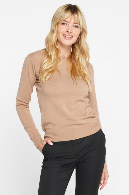 Beige viscose sweater