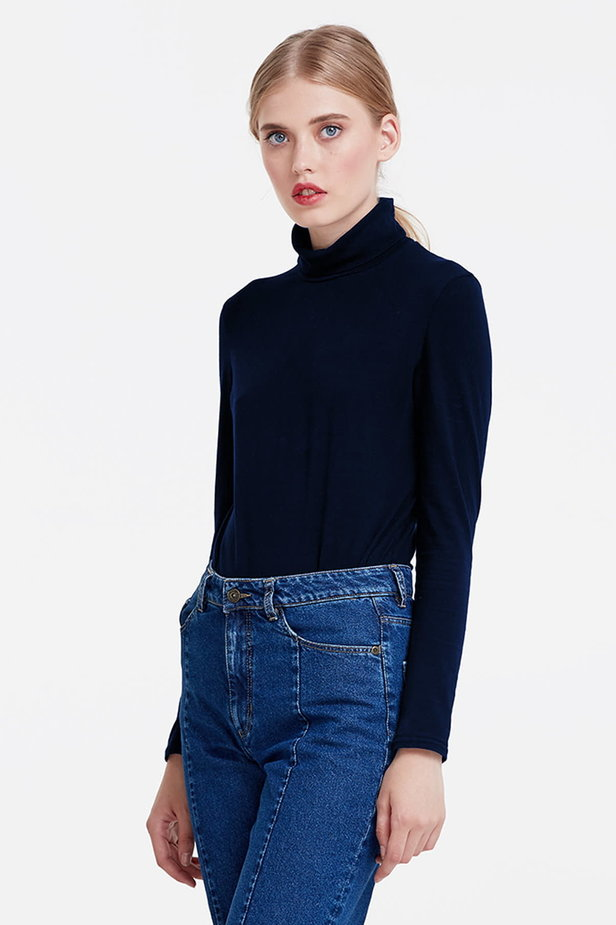 Dark blue polo neck photo 1 - MustHave online store
