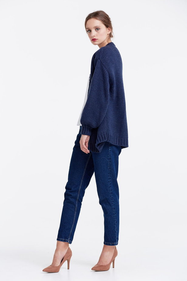 Swing dark blue cardigan photo 4 - MustHave online store