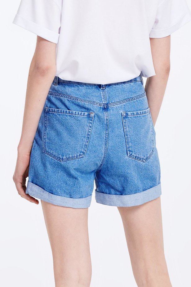 Blue denim shorts photo 5 - MustHave online store
