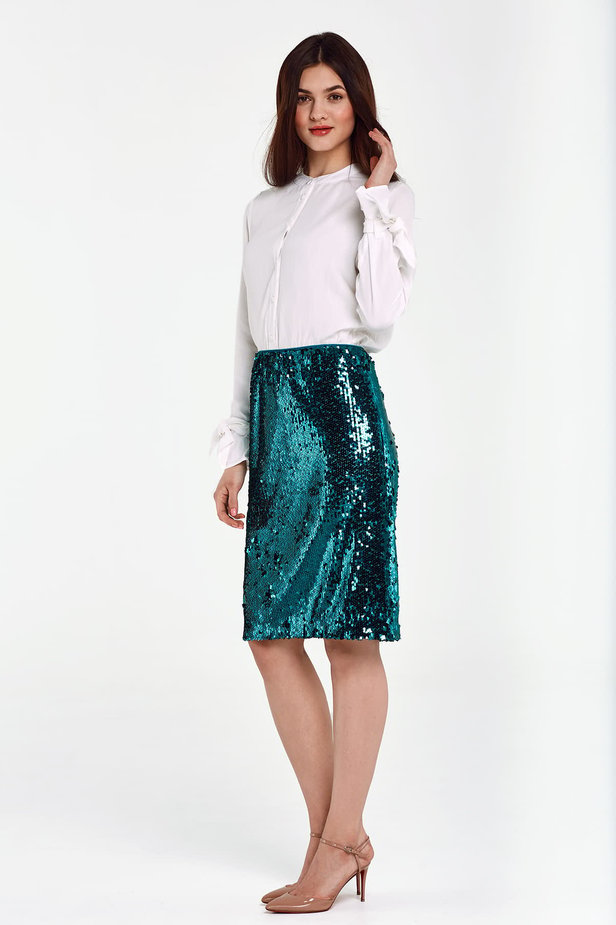 Green sequin skirt photo 3 - MustHave online store