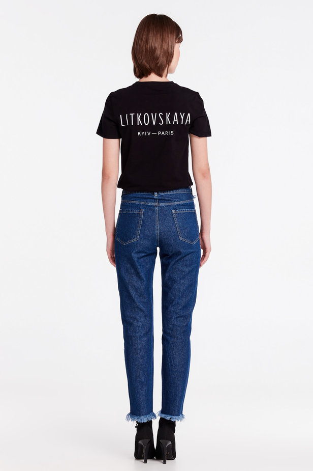Double-colored jeans MUSTHAVE X LITKOVSKAYA photo 5 - MustHave online store
