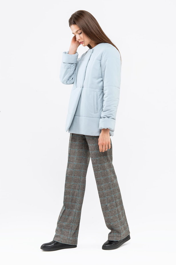 Blue grey jacket with snaps photo 3 - MustHave online store