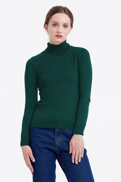 Green polo neck