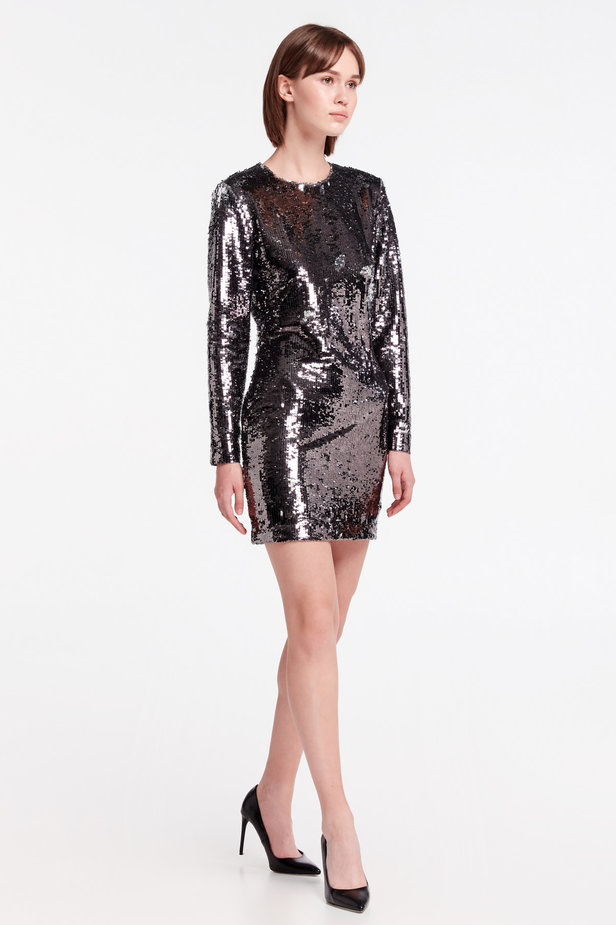 Silver sequin dress photo 6 - MustHave online store