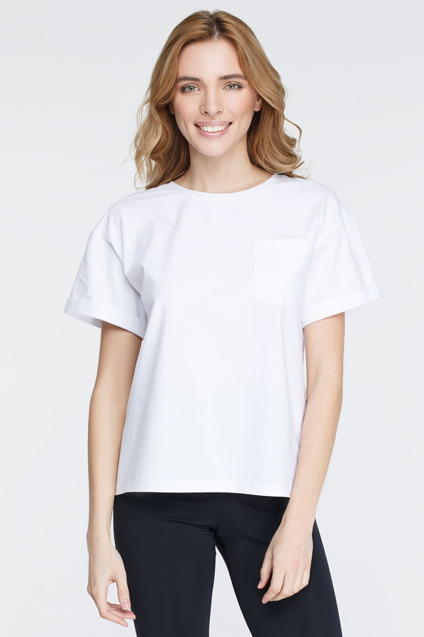 White T-shirt with a pocket photo 3 - MustHave online store