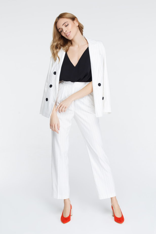 White pants with black stripes photo 7 - MustHave online store