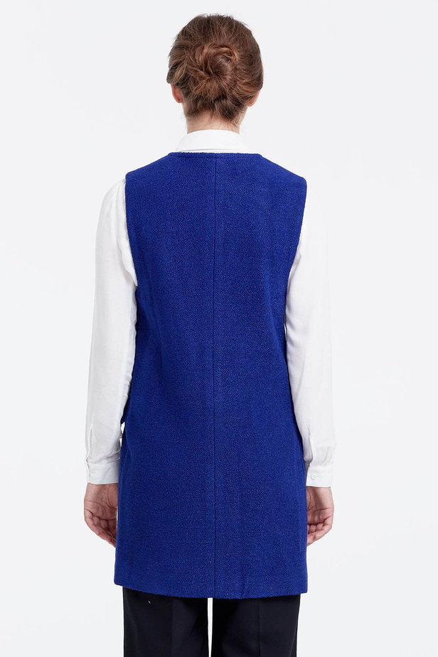 Long blue vest photo 4 - MustHave online store