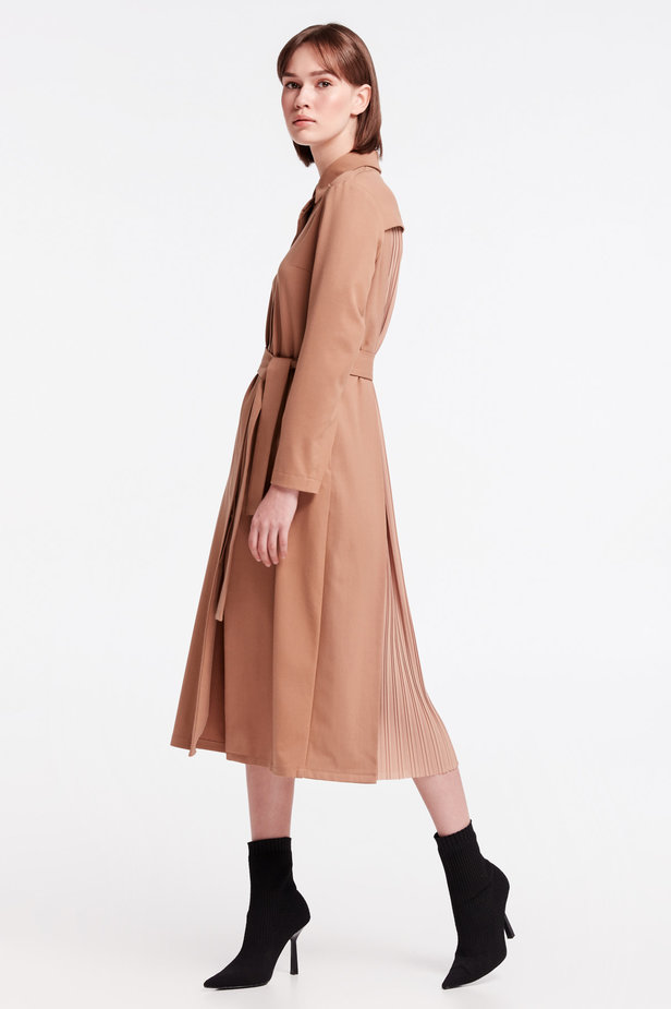 Beige dress-trench MUSTHAVE X LITKOVSKAYA photo 3 - MustHave online store