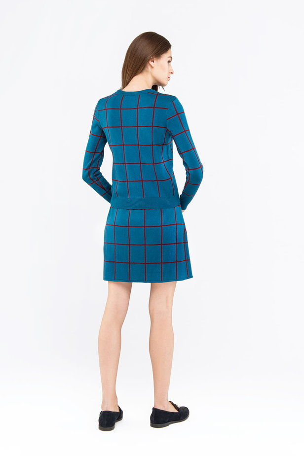 Checked blue dress photo 5 - MustHave online store