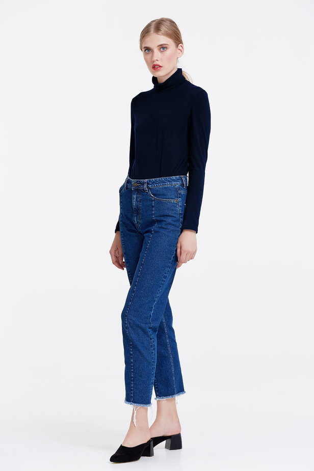 Dark blue polo neck photo 2 - MustHave online store