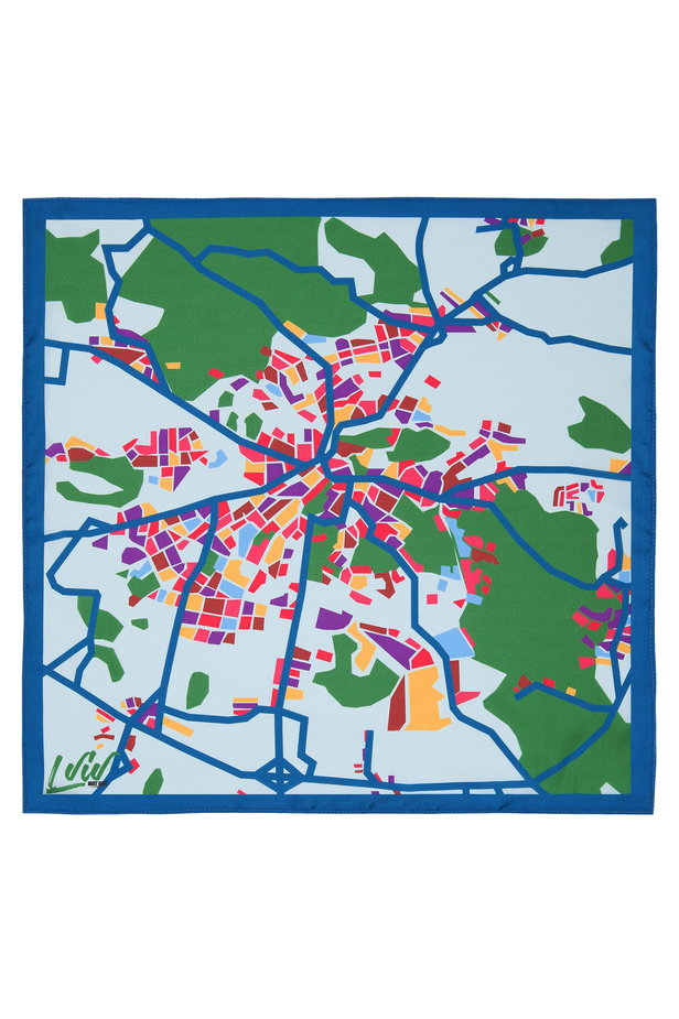 "Small kerchief MustHave ""Lviv's Map"" photo 2 - MustHave online store"