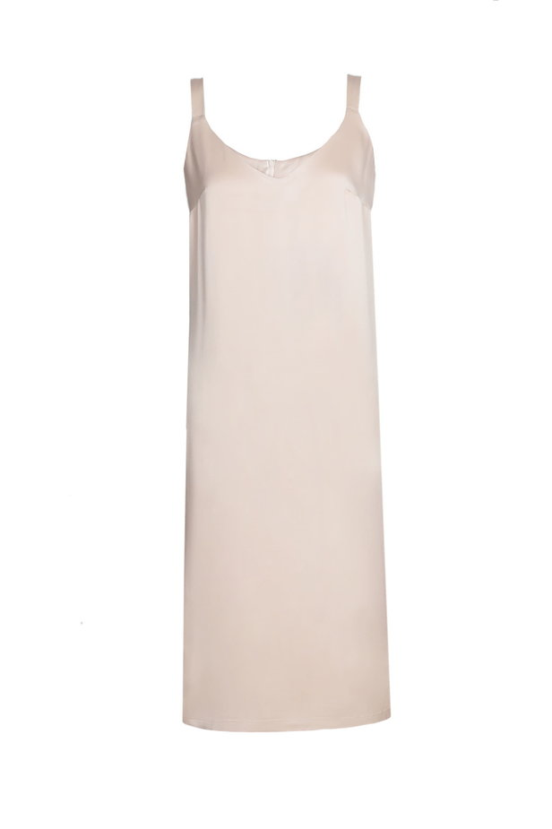Beige straight sundress with straps photo 2 - MustHave online store