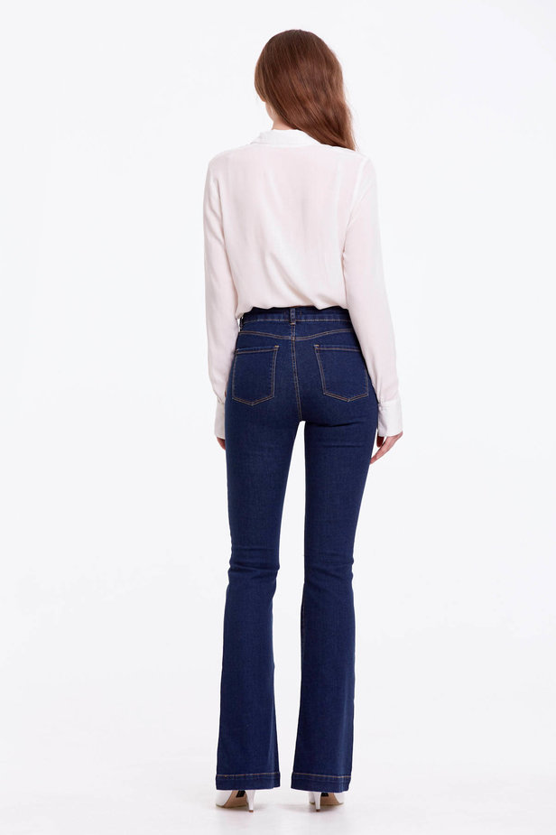 Flared blue jeans photo 5 - MustHave online store