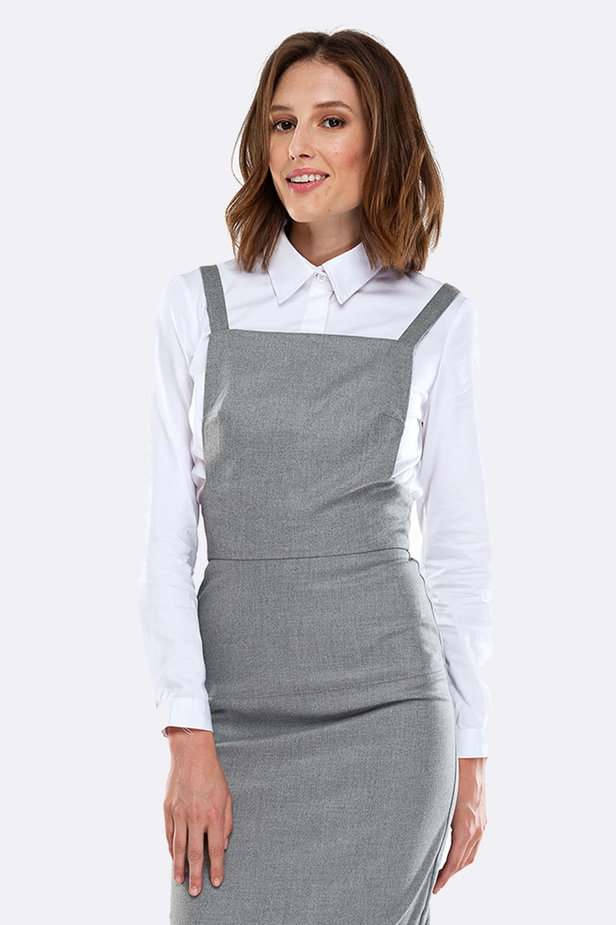 Grey sundress with straps photo 1 - MustHave online store