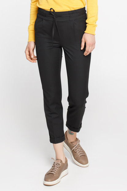 Black pants on an elastic band