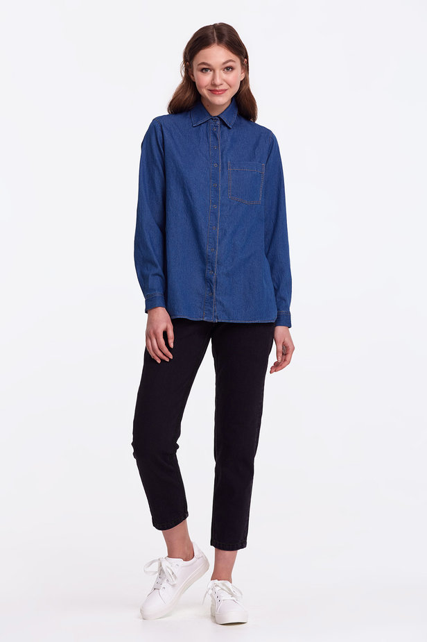 Light-blue denim shirt photo 2 - MustHave online store