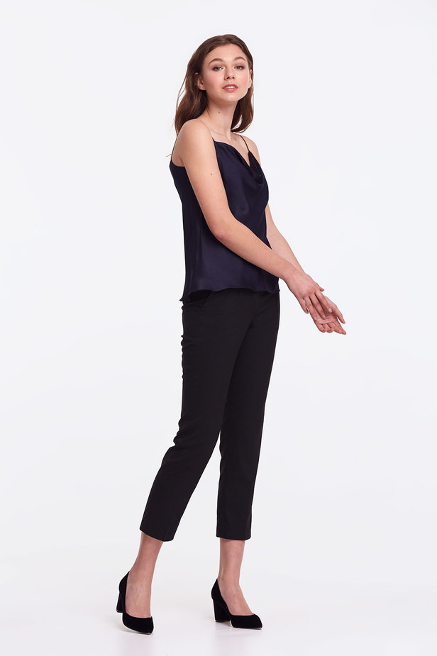 Dark blue top with straps photo 5 - MustHave online store