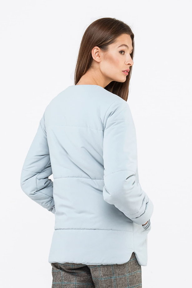 Blue grey jacket with snaps photo 2 - MustHave online store