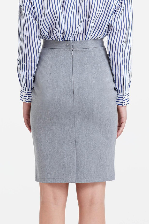 Above the knee grey pencil skirt photo 4 - MustHave online store