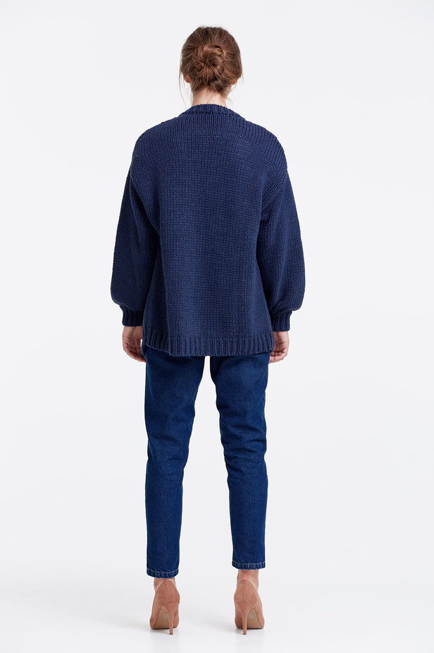 Swing dark blue cardigan photo 5 - MustHave online store