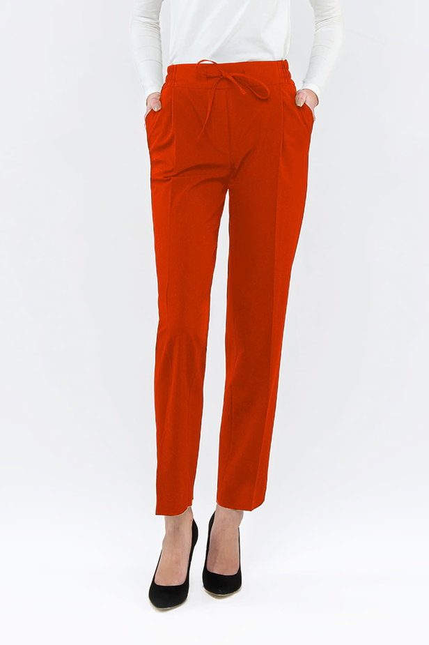 Red pants with an elastic waistband photo 1 - MustHave online store