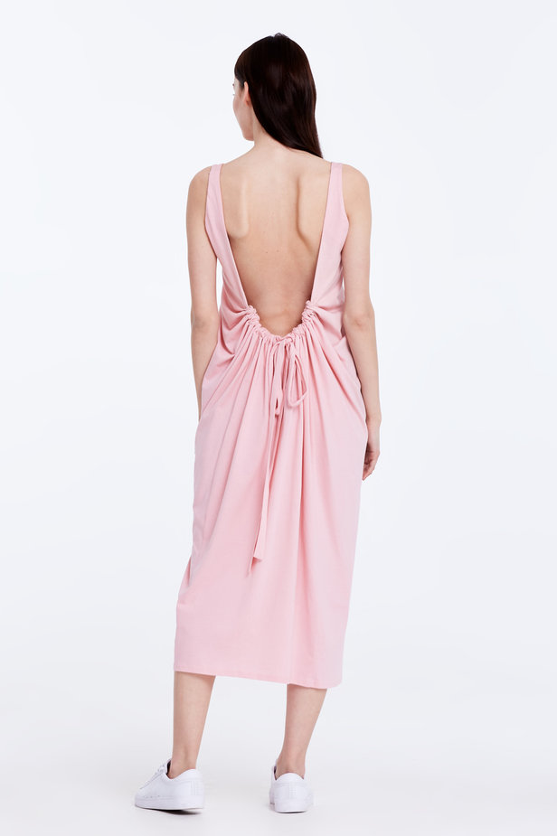 Backless pink dress photo 7 - MustHave online store