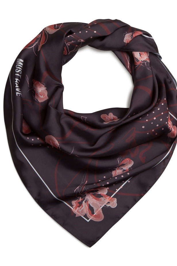 "Black MustHave Kerchief ""Flowers"" photo 3 - MustHave online store"