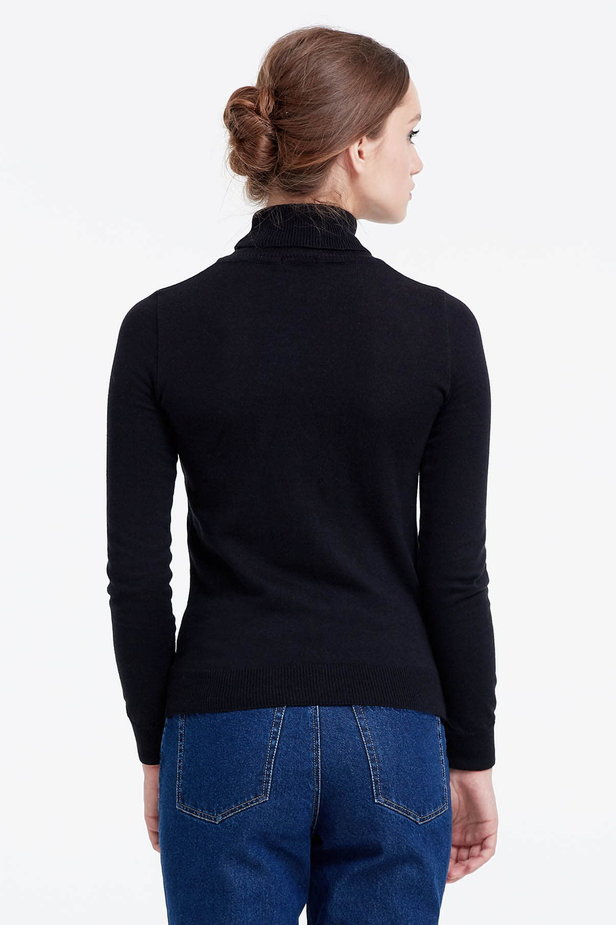 Black polo neck photo 5 - MustHave online store