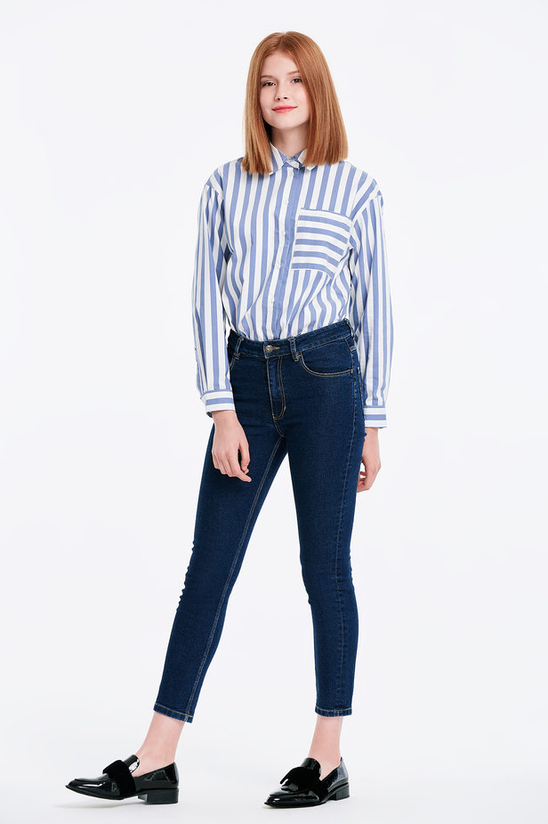 Short skinny blue jeans photo 5 - MustHave online store