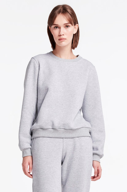 Grey sweatshirt with cuffs