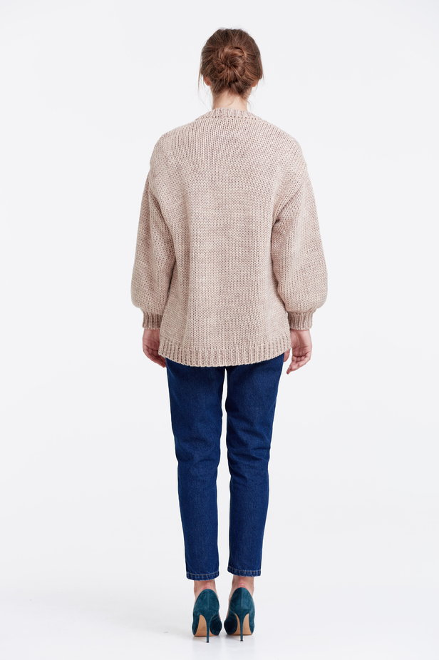 Swing beige cardigan photo 4 - MustHave online store