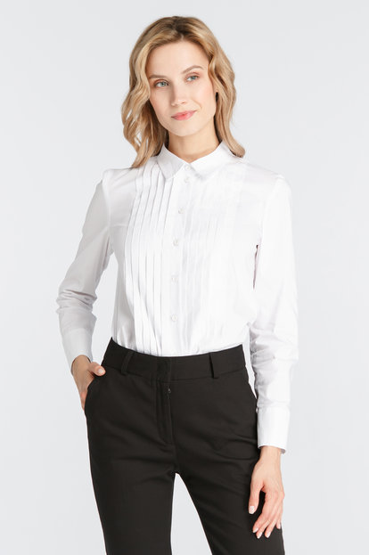 White shirt with pleats