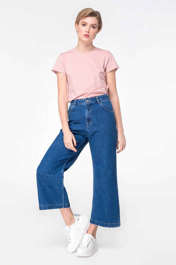 Blue jeans-culottes photo 3 - MustHave online store