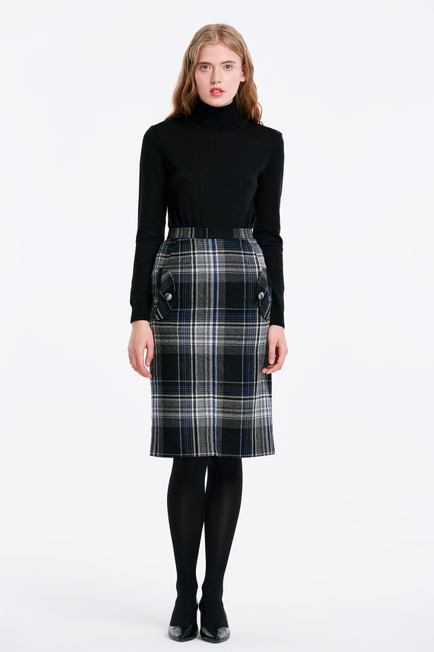 Сhecked skirt with pockets photo 5 - MustHave online store