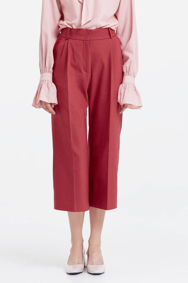 Wine red culottes photo 1 - MustHave online store