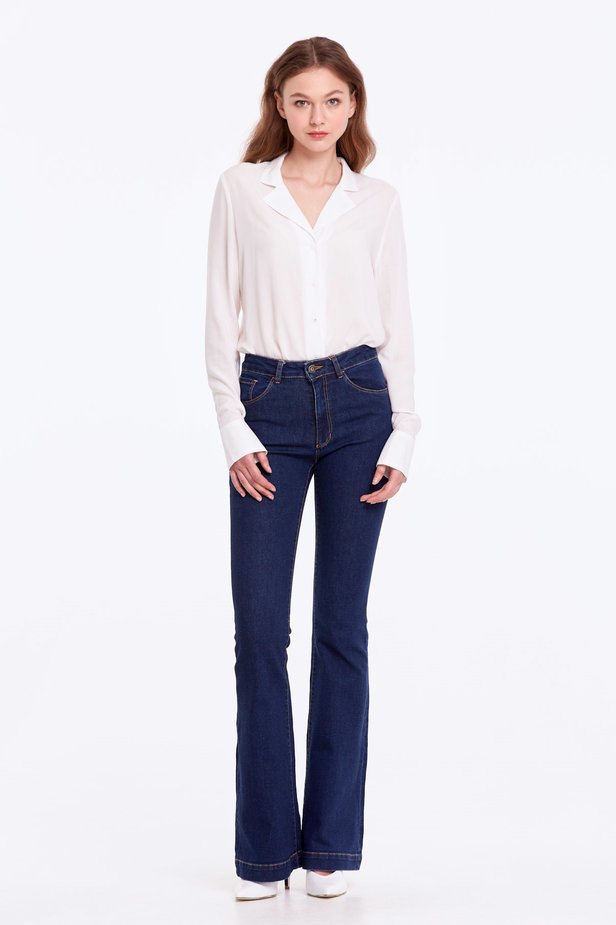 Flared blue jeans photo 2 - MustHave online store
