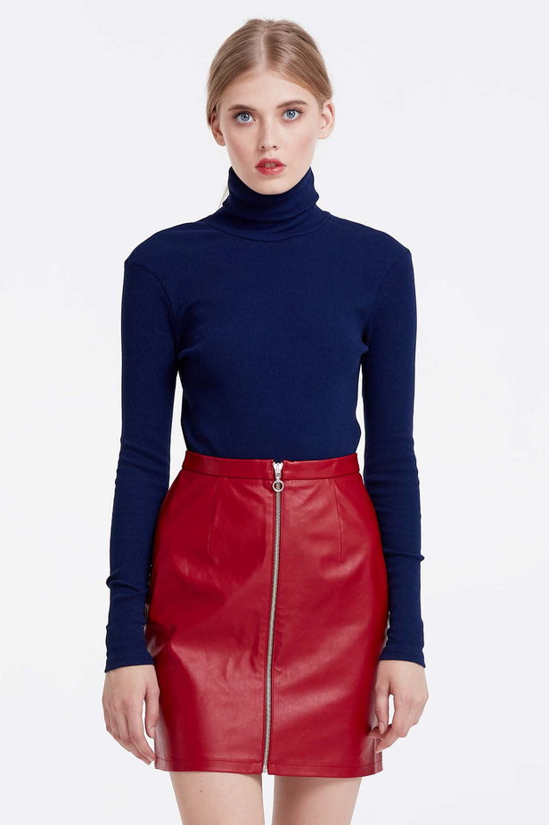 Blue polo neck photo 1 - MustHave online store