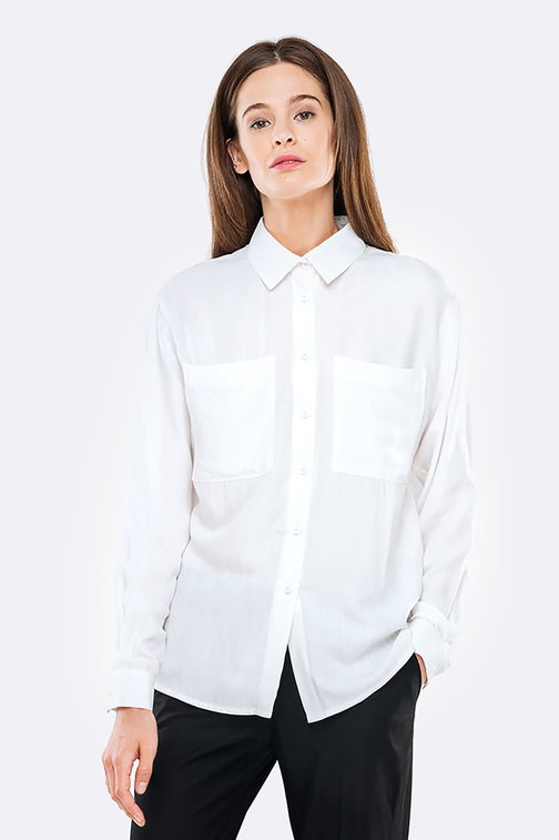 Swing white shirt with pockets