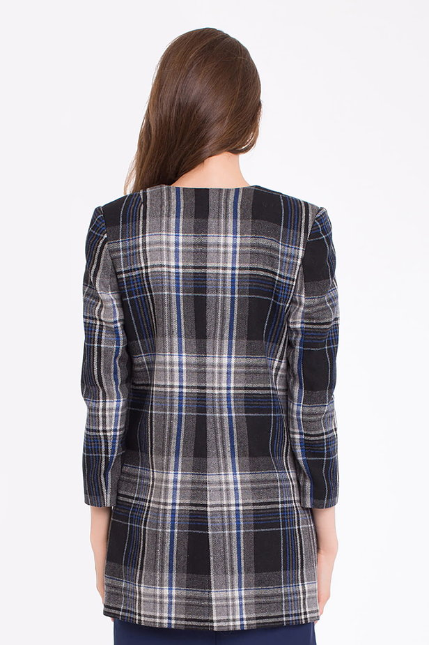 Checked cardigan photo 3 - MustHave online store