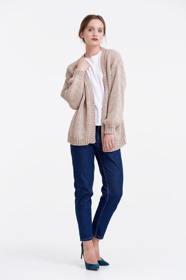 Swing beige cardigan photo 3 - MustHave online store
