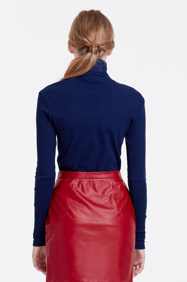Blue polo neck photo 4 - MustHave online store