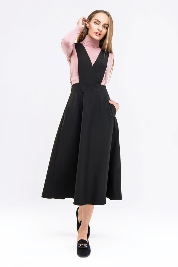Midi black sundress photo 3 - MustHave online store