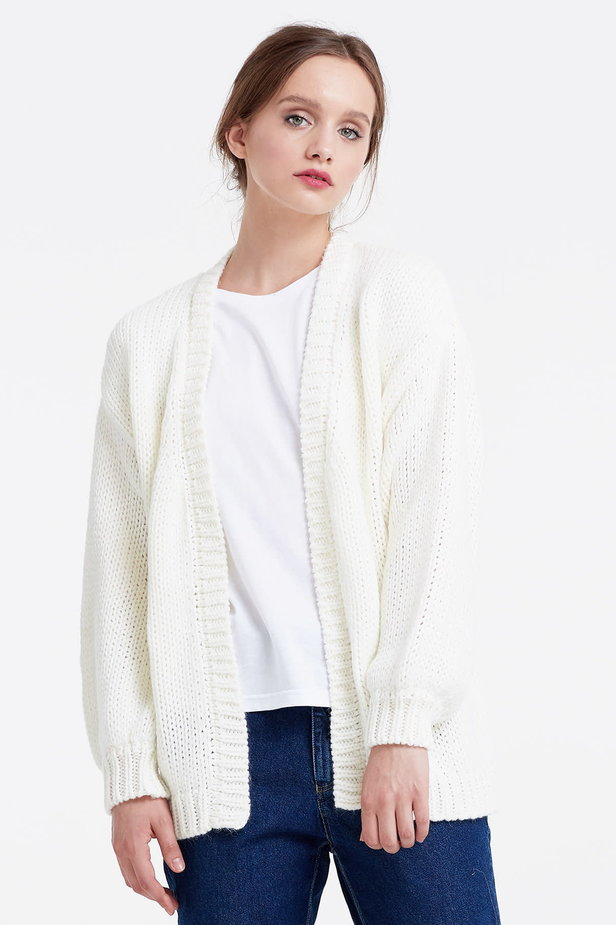 Swing white cardigan photo 1 - MustHave online store
