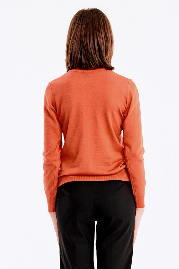 Terra-cotta knit polo neck photo 5 - MustHave online store