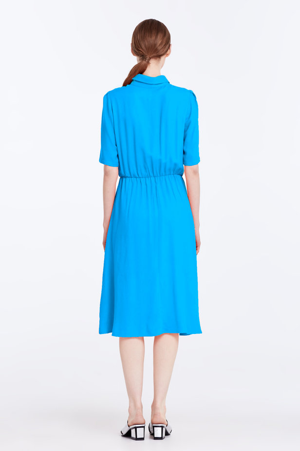 Blue dress with a shirt top photo 5 - MustHave online store