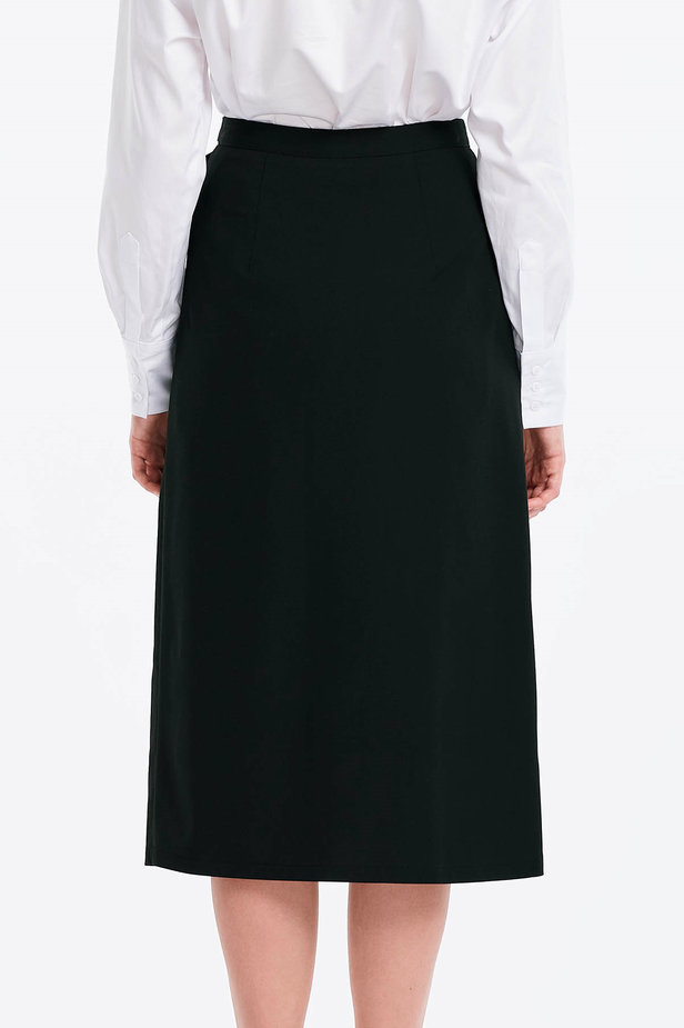 Wrap black skirt with a belt photo 2 - MustHave online store