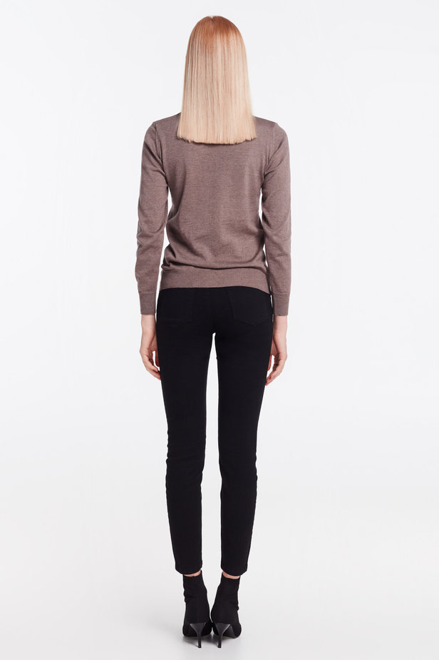 Brown knit polo neck photo 5 - MustHave online store