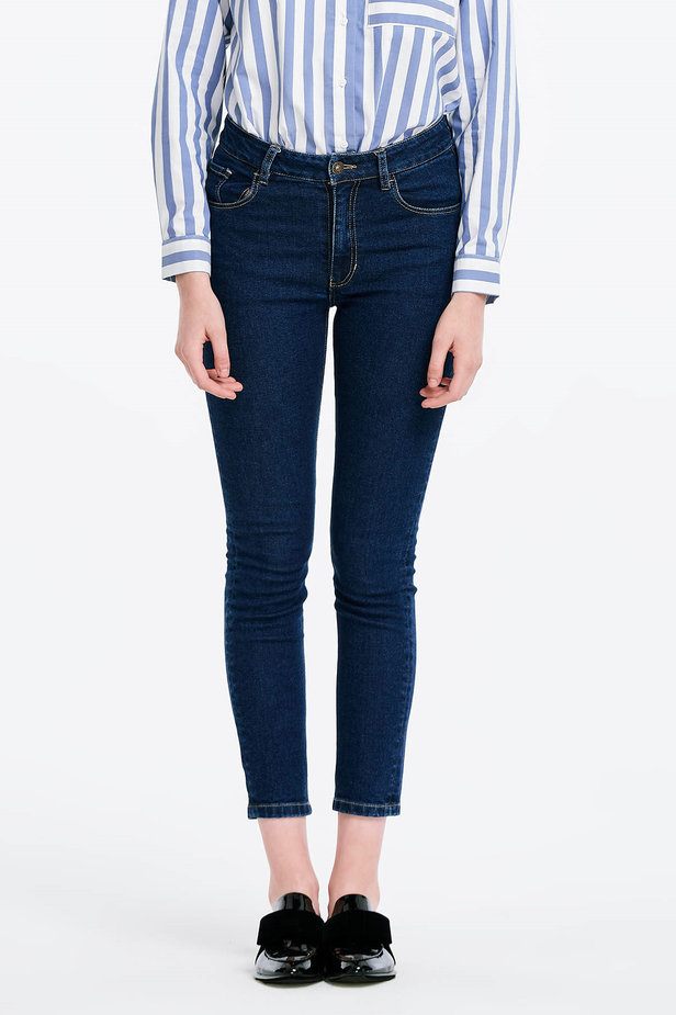 Short skinny blue jeans photo 1 - MustHave online store